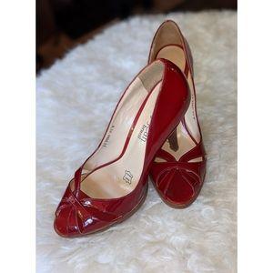 Cathy Jean | Cut Out Peep-Toe Pumps Heels Size 8